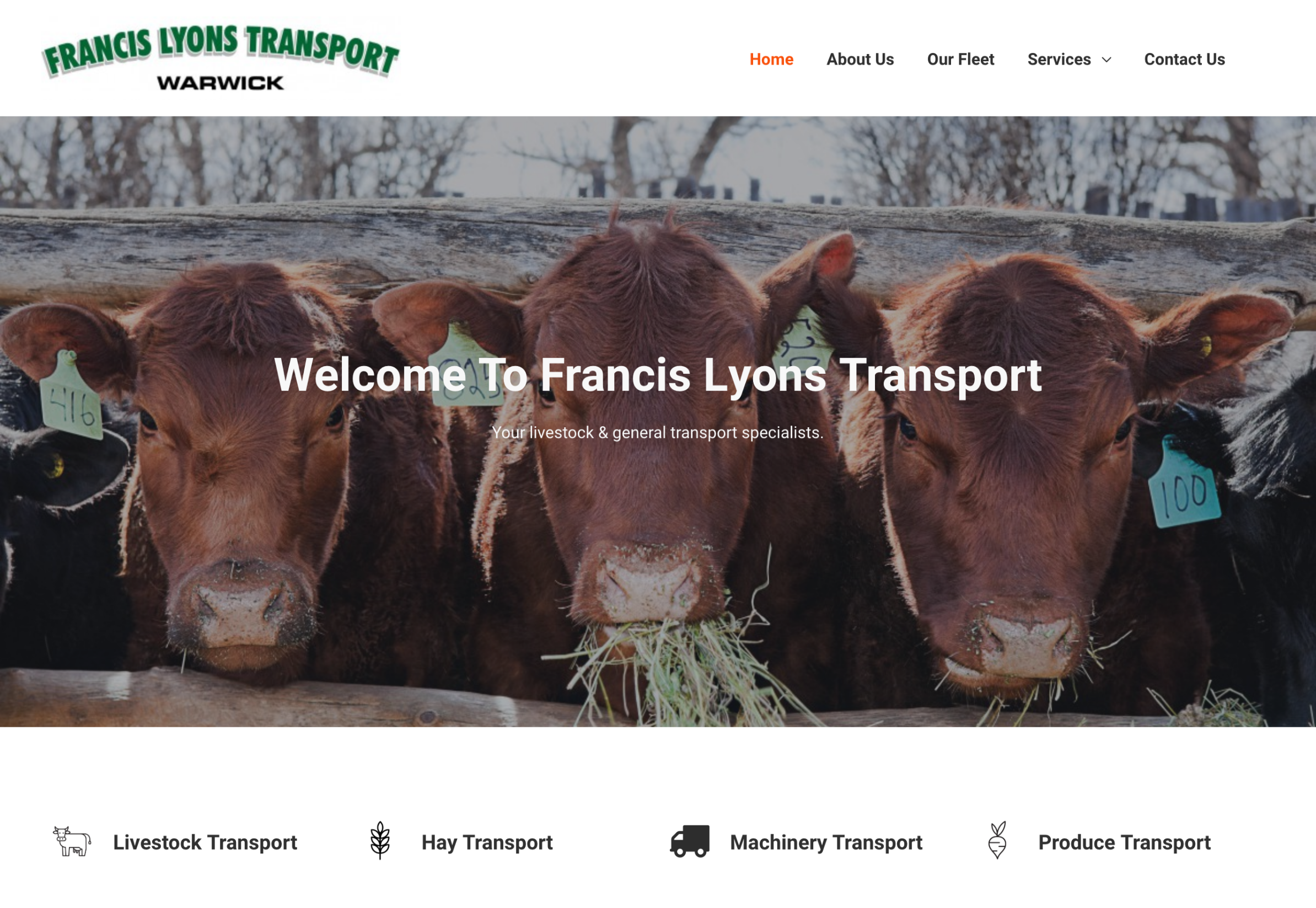 transport-company-website